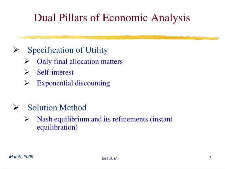 Dual Pillars of Economic Analysis