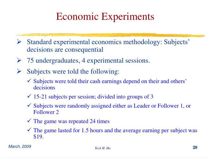 Economic Experiments