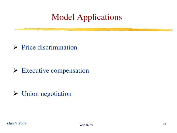 Model Applications