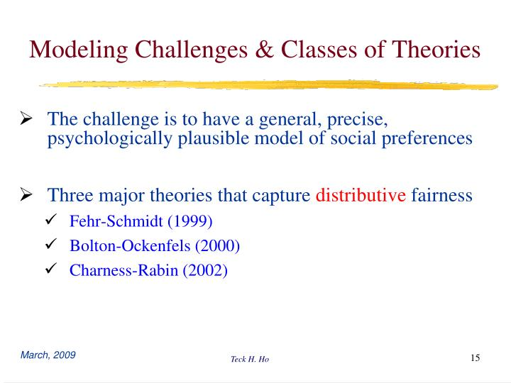 Modeling Challenges & Classes of Theories