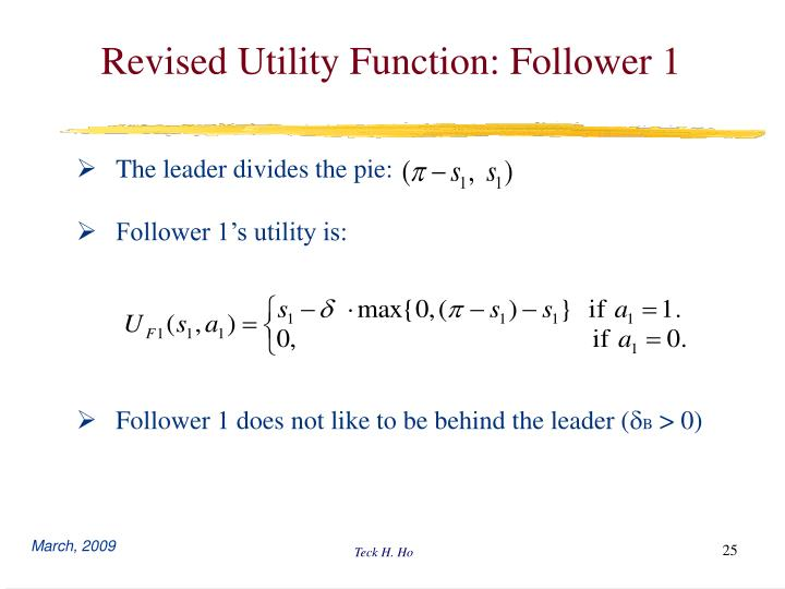 Revised Utility Function: Follower 1