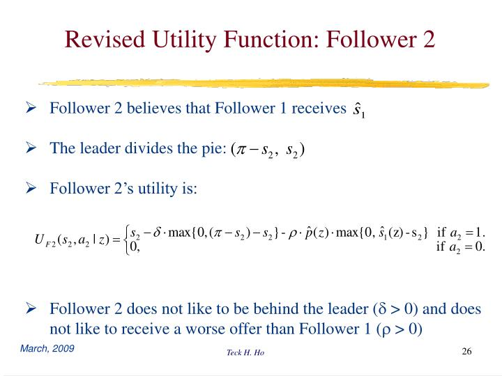 Revised Utility Function: Follower 2