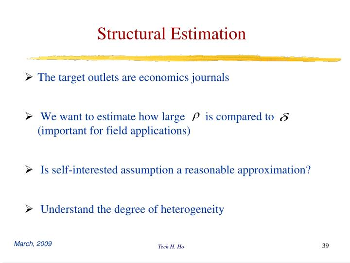Structural Estimation