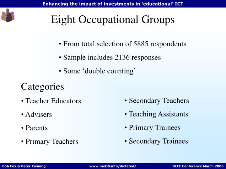 Eight Occupational Groups