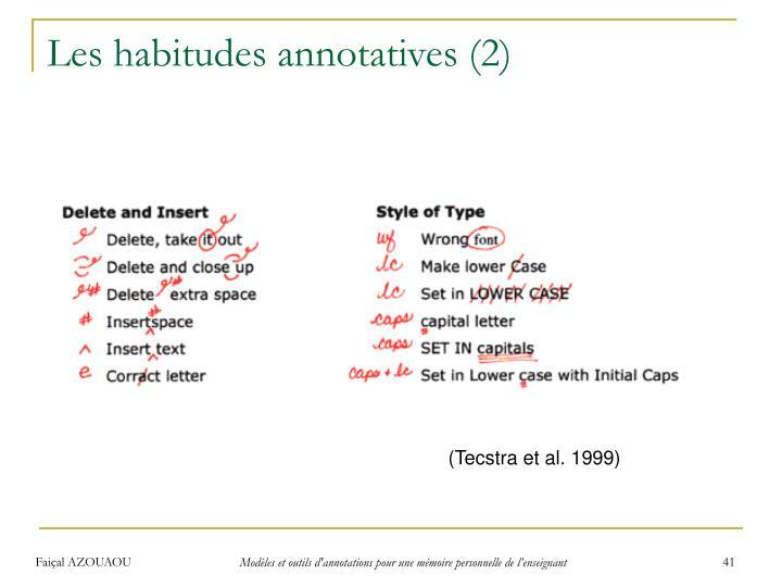 Les habitudes annotatives(2)
