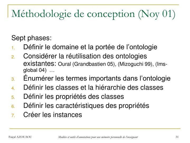 Méthodologie de conception (Noy 01)