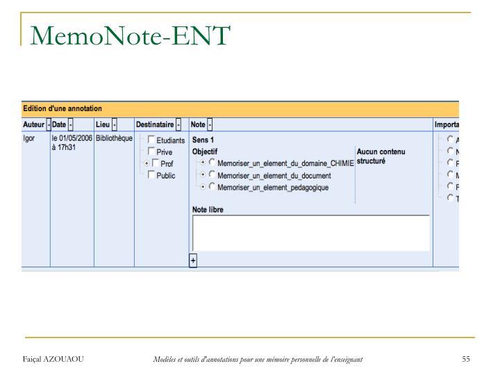 MemoNote-ENT