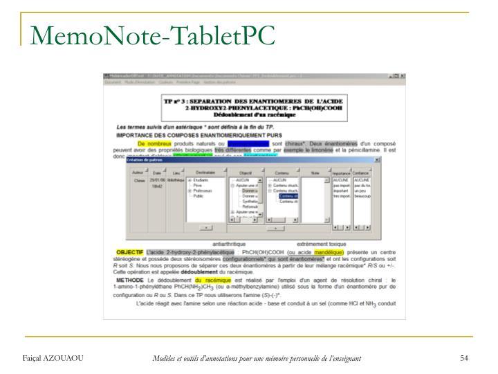 MemoNote-TabletPC
