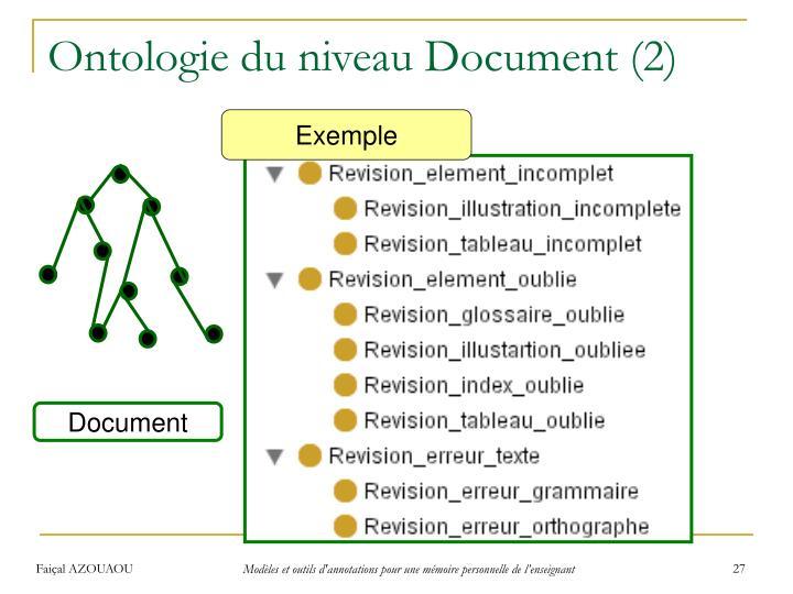 Ontologie du niveau Document (2)