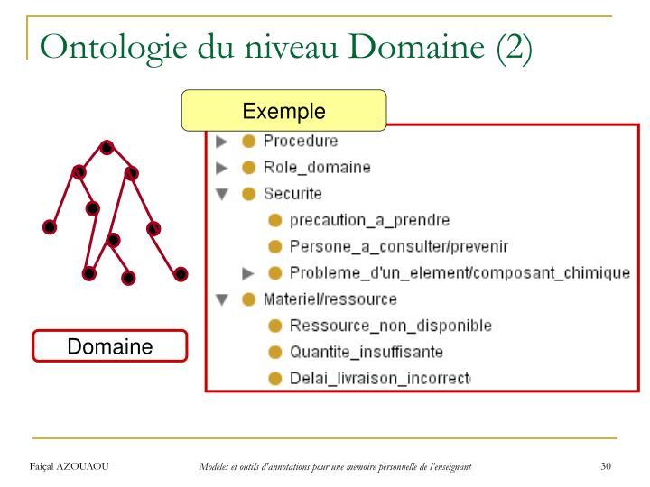 Ontologie du niveau Domaine (2)