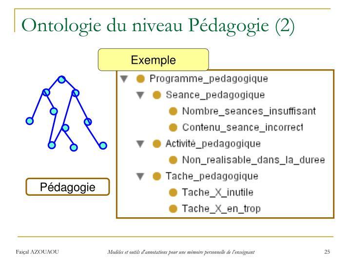 Ontologie du niveau Pédagogie (2)