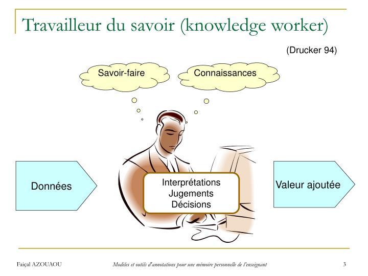 Travailleur du savoir (knowledge worker)