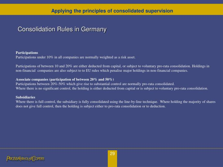 Consolidation Rules in Germany
