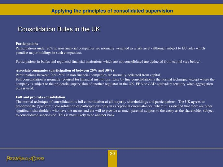 Consolidation Rules in the UK