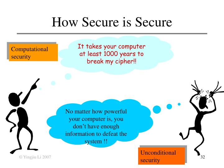 How Secure is Secure