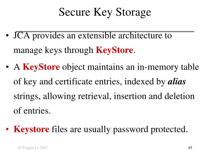 Secure Key Storage