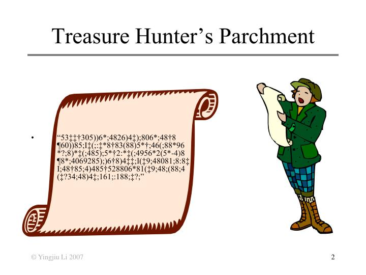 Treasure hunter s parchment