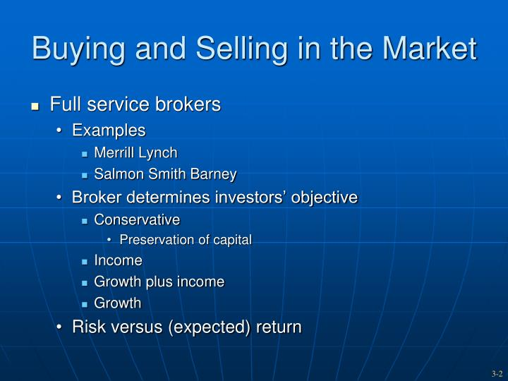 Buying and selling in the market