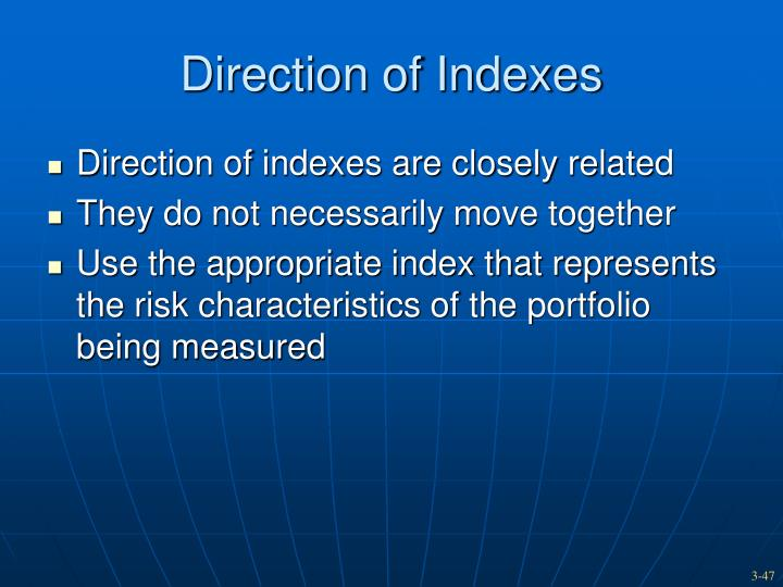 Direction of Indexes