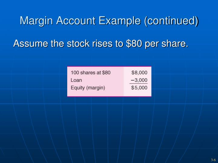 Margin Account Example (continued)