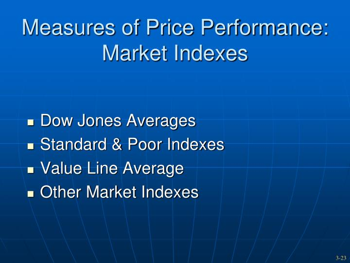 Measures of Price Performance: Market Indexes