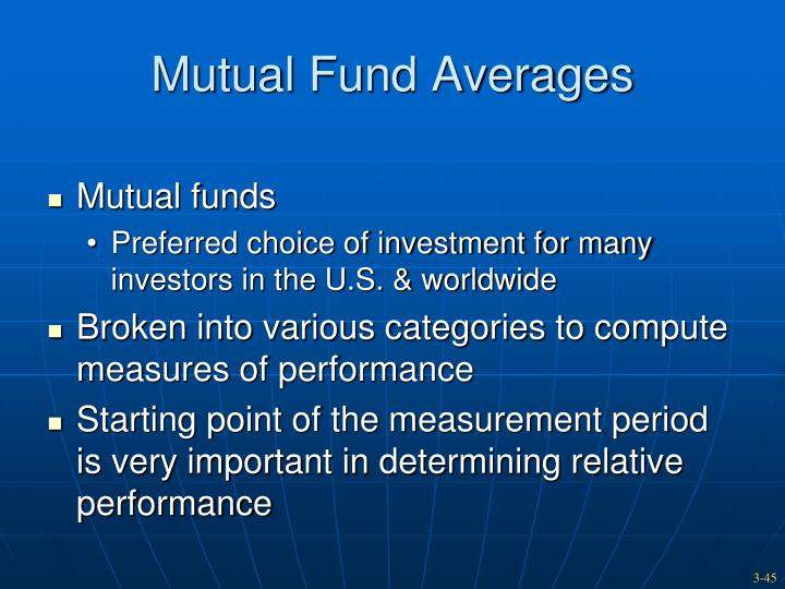 Mutual Fund Averages