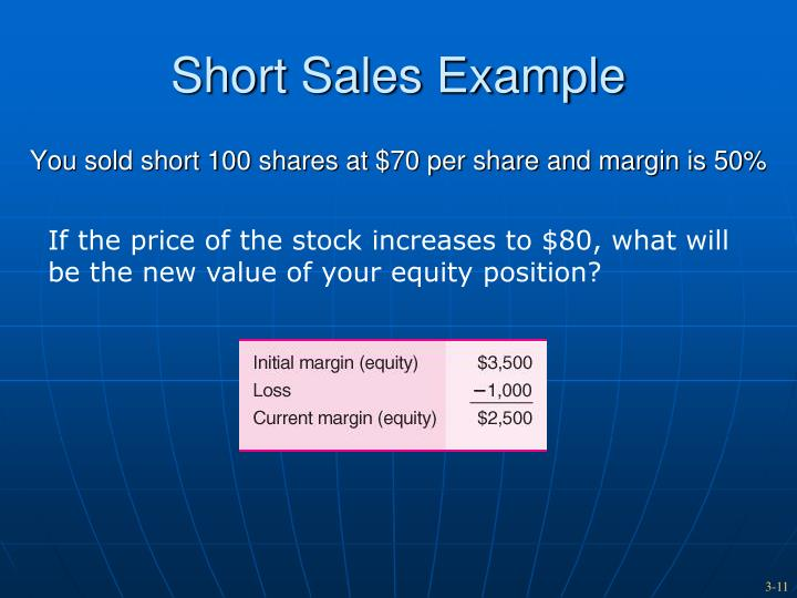 Short Sales Example