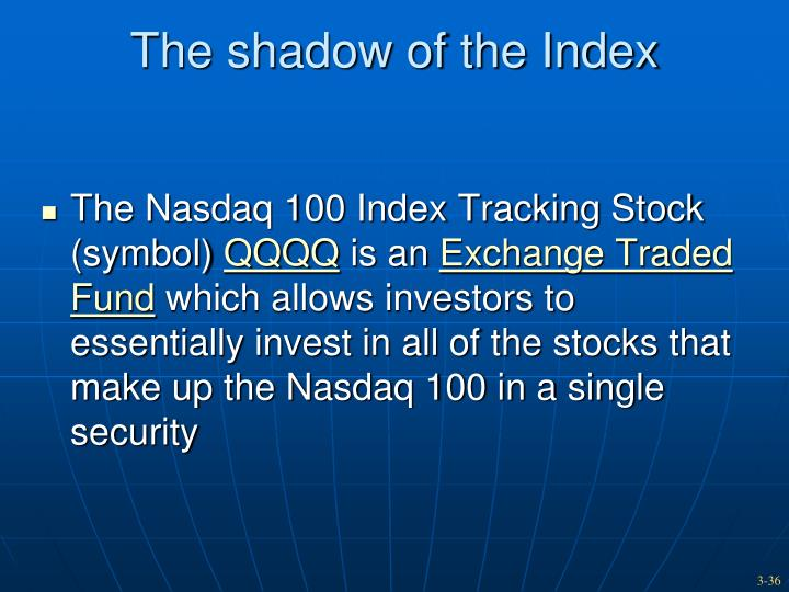 The shadow of the Index