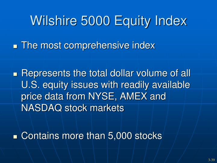 Wilshire 5000 Equity Index