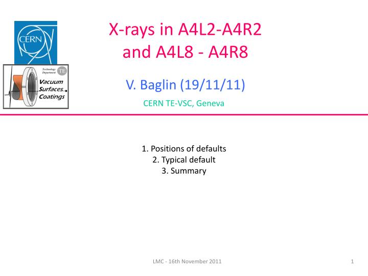 X-rays in A4L2-A4R2