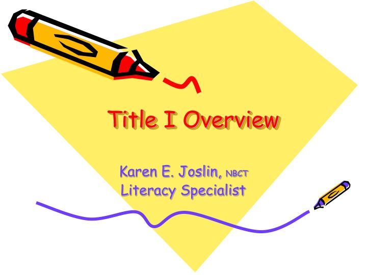 Title I Overview