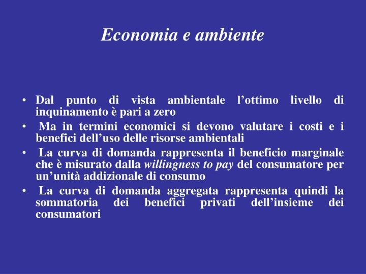 Economia e ambiente