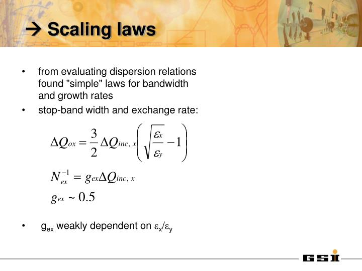  Scaling laws