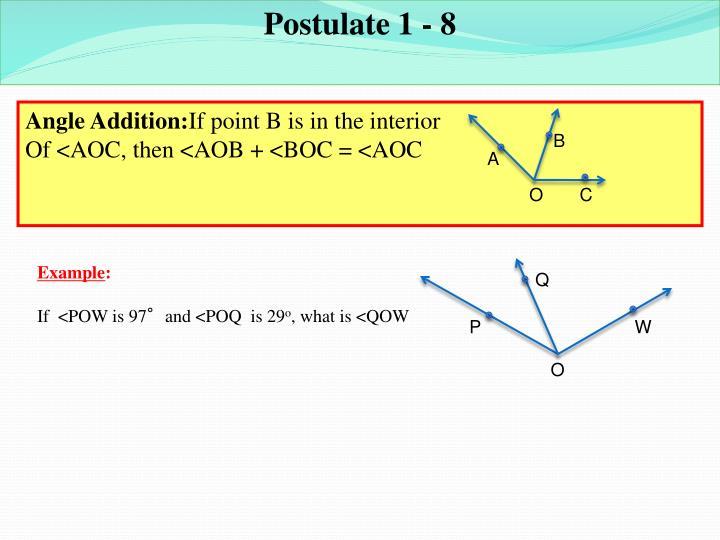 Postulate 1 - 8
