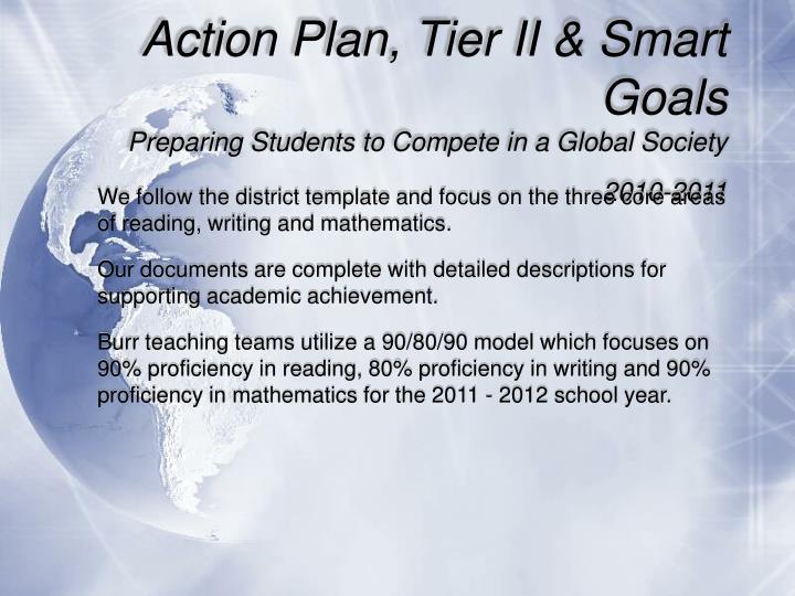 Action Plan, Tier II & Smart Goals