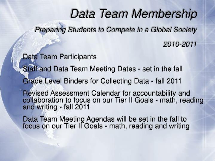 Data Team Membership