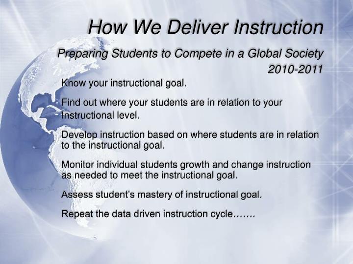 How We Deliver Instruction