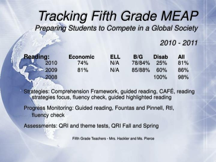 Tracking Fifth Grade MEAP