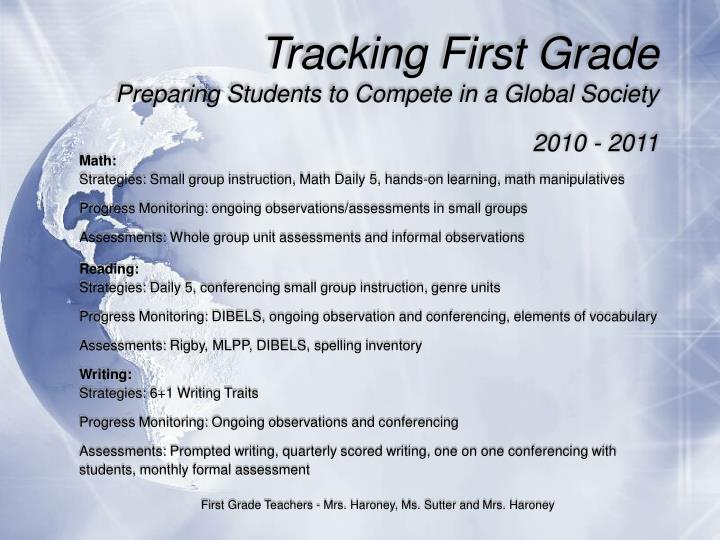 Tracking First Grade