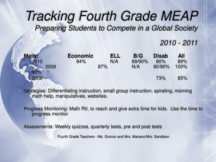 Tracking Fourth Grade MEAP