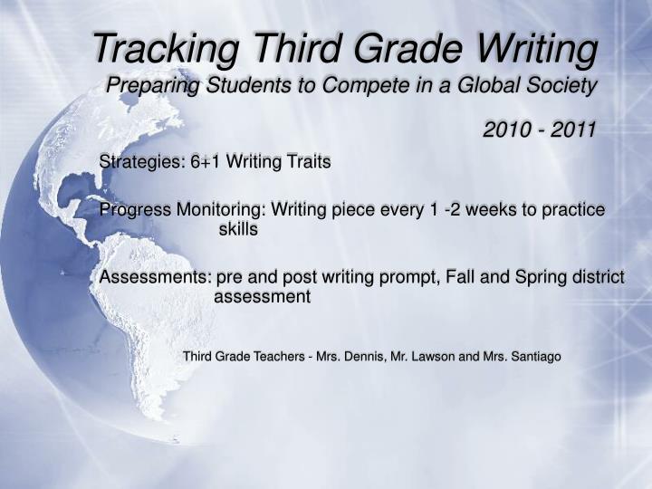 Tracking Third Grade Writing