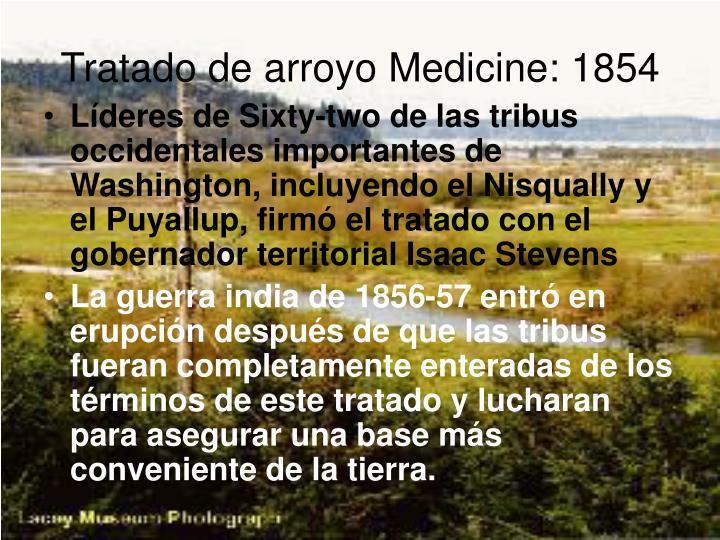 Tratado de arroyo Medicine: 1854