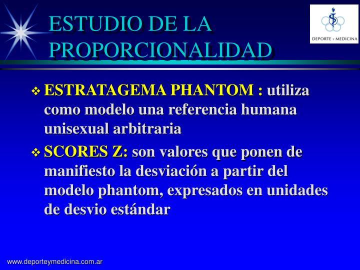 ESTUDIO DE LA PROPORCIONALIDAD