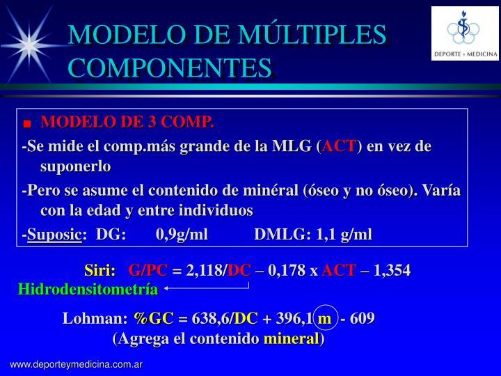 MODELO DE 3 COMP.