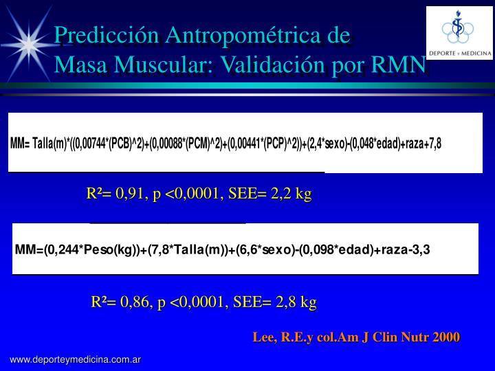 Predicción Antropométrica de