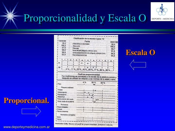 Proporcionalidad y Escala O