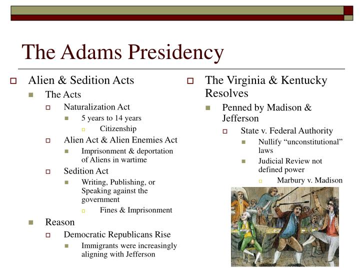 The Adams Presidency