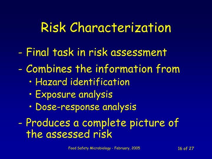 Risk Characterization