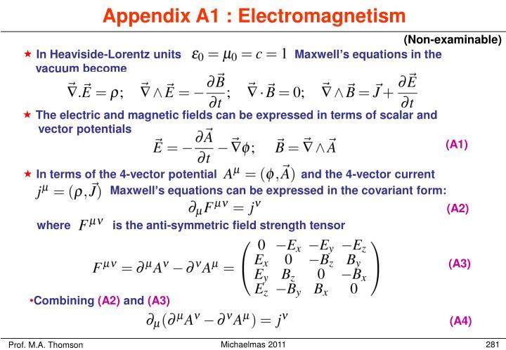 where             is the anti-symmetric field strength tensor