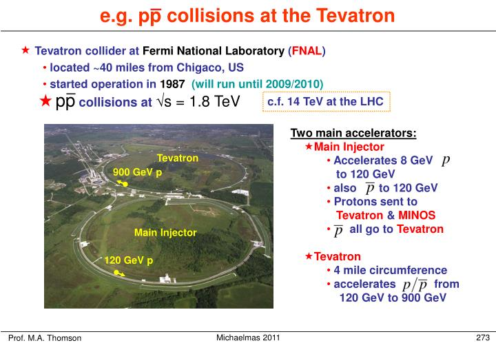 Tevatron collider at